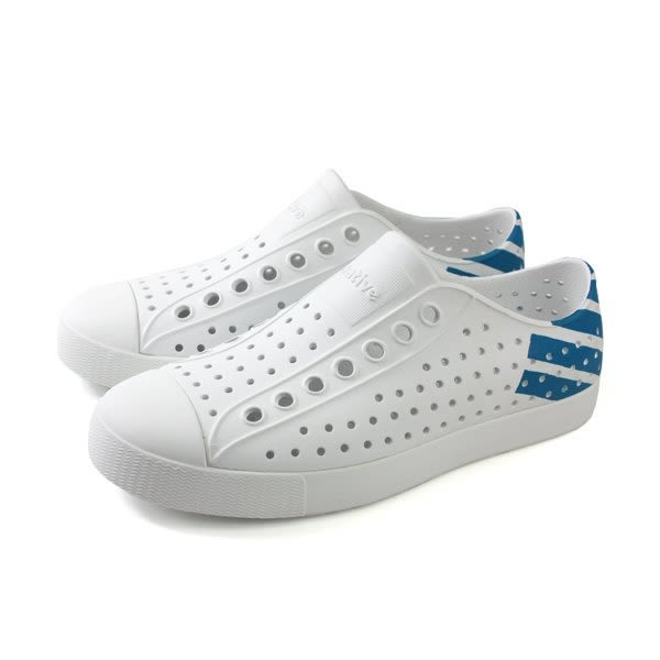 Native JEFFERSON男女款白藍色情侶休鞋鞋-NO.11100102-8717