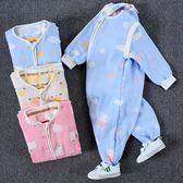 寶寶分腿睡袋春秋 嬰兒薄棉秋冬純棉四季通用 紗布薄款兒童防踢被
