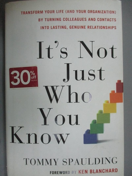 【書寶二手書T7/傳記_GBQ】It's Not Just Who You Know: Transform Your L