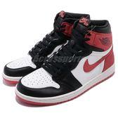 Nike Air Jordan 1 Retro High OG 6 Rings 白 黑 紅 男鞋 喬丹1代 【PUMP306】 555088-112