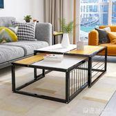 邊幾現代簡約客廳沙發邊柜小茶幾簡約迷你移動邊桌長方形組裝角幾 QQ29247『樂愛居家館』
