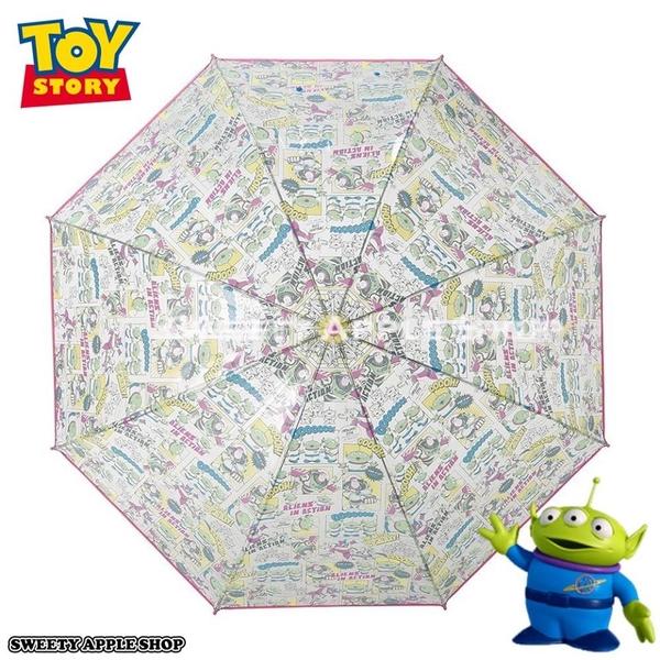 日本限定 迪士尼 玩具總動員 三眼怪 美式漫畫風   透明 直立雨傘 60 cm
