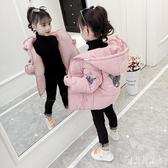 女童冬裝短款外套 2019冬季新款韓版時尚加厚加絨印花棉服女 YN2244『寶貝兒童裝』