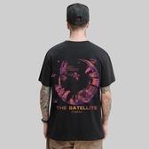夏季原宿風潮牌短袖男T恤寬鬆半袖歐美嘻哈加大碼潮流純棉體恤男 後街五號