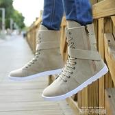 秋冬季男士高筒馬丁靴中筒男靴子韓版潮男鞋軍靴牛仔靴個性長筒靴 依凡卡時尚