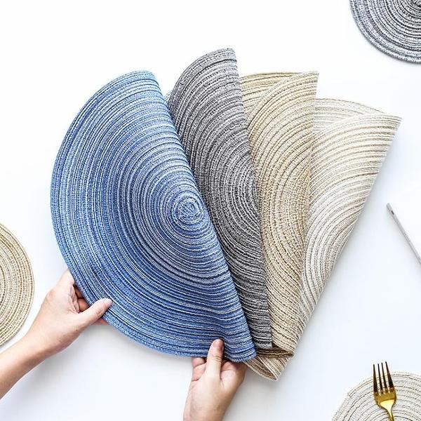 日式棉紗鍋墊隔熱墊熱螺紋圓形餐墊杯墊手工編織餐桌面防滑碗盤墊