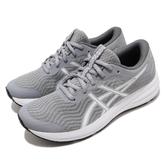 Asics 慢跑鞋 Patriot 12 灰 藍 女鞋 入門款 基本款 緩衝設計 運動鞋【PUMP306】 1012A705021