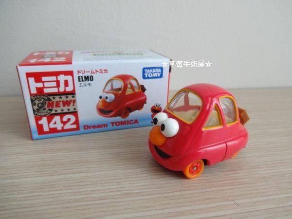 ☆草莓牛奶屋☆日本進口【DREAM TOMICA小汽車】芝麻街ELMO小汽車