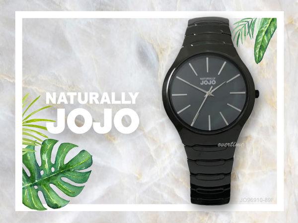 【時間道】NATURALLY JOJO 中性簡約流線型腕錶 / 黑貝面銀刻黑陶(JO96910-89F)免運費