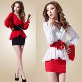 雪紡洋裝 胖mm雪紡包臀連身裙秋冬女2021新款假兩件套裝長袖顯瘦遮肚一步裙 艾維朵