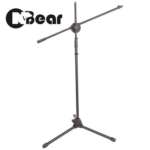 【敦煌樂器】CNBear K-315B 專業落地型 直.斜兩用 麥克風架 黑色款