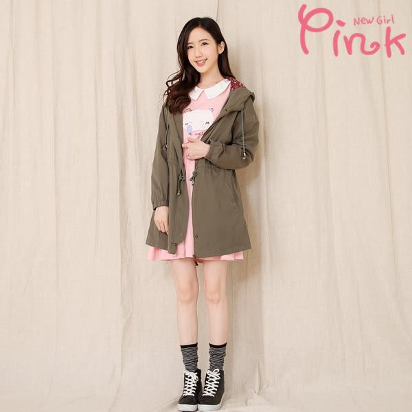 【Pink】印花內裏軍裝外套 G2703AD