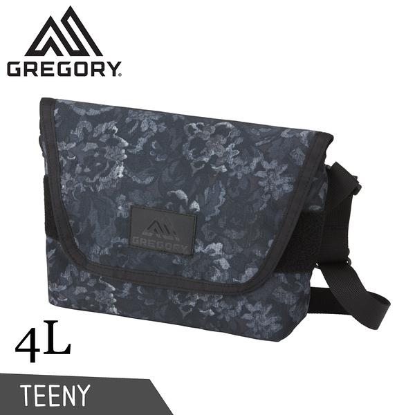 【GREGORY 美國 4L TEENY郵差包《闇黑印花》】110152/肩背包/側背隨身包/休閒包