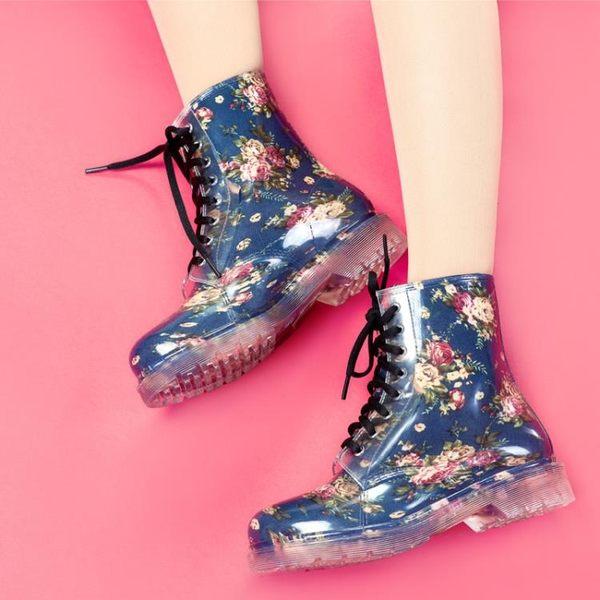 夏季時尚短筒防滑系帶成人休閒雨鞋女LYH4150【大尺碼女王】