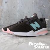 New Balance 247 黑網 蒂綠 粉 慢跑 休閒 女 (布魯克林) 2018/7月 WS247FD