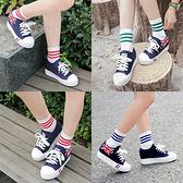 三線條配色運動風純棉中筒襪/多色可挑