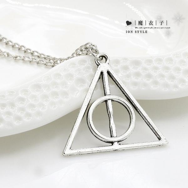 【Q90A20】魔衣子歐美三角圓形項鏈