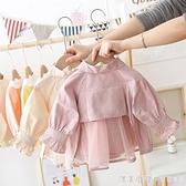 女寶寶春秋薄款外套2020洋氣新款童裝嬰兒外搭風衣0-2歲3女童上衣 美眉新品