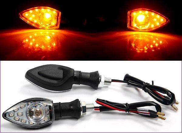 305A034   機車方向燈 透鏡款 黃光2入  後方向燈組 LED 重車 擋車 機車 電動車 野狼