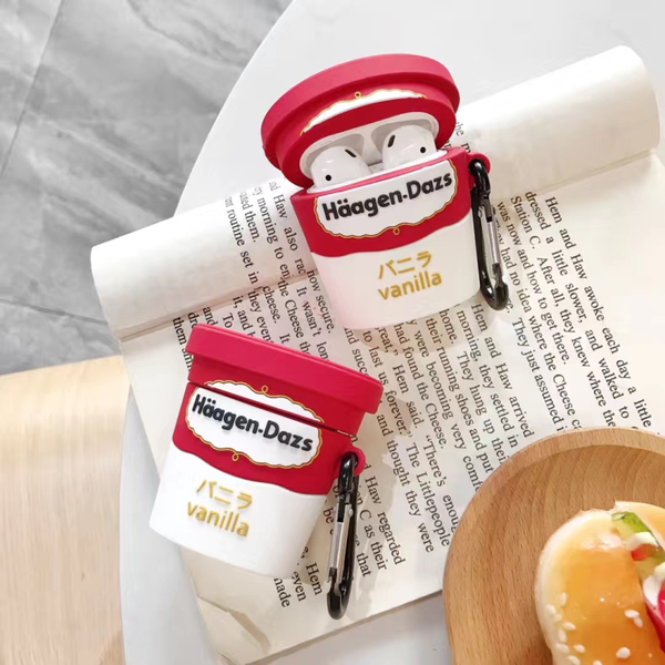 🍎 Airpods Pro 專用 1/2代 🇹🇼台灣發貨 [ 哈根達斯香草冰淇淋 ] 藍芽耳機保護套 蘋果無線耳機保護