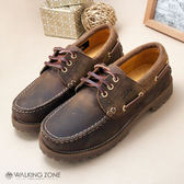 【WALKING ZONE】男--經典復刻雷根鞋(棕) 小牛皮手工_男女款尺寸皆有