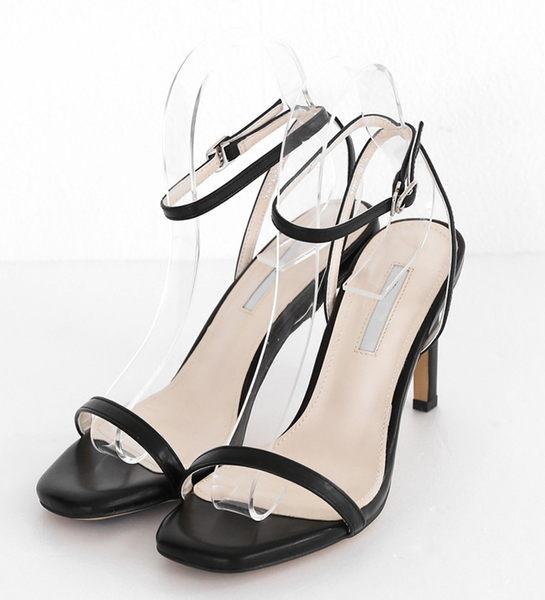 露趾高跟鞋 性感細帶一字高跟鞋 艾爾莎 【TSB8841】