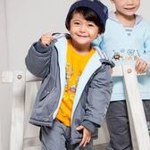 【愛的世界】防風內磨毛機器人長袖連帽外套/1~3歲-台灣製- ★秋冬外套