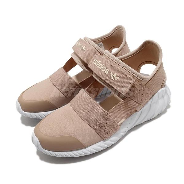 adidas 涼拖鞋 Doom Sandal C 粉紅 白 童鞋 中童鞋 涼鞋 運動鞋 【ACS】 FV7599
