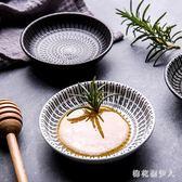 蘸料碟 創意個性日式手繪移印陶瓷調味碟家用零食點心碟味碟小菜碟醬料碟flb179【棉花糖伊人】