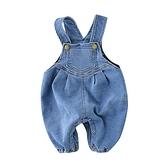韓版牛仔加絨吊帶褲 連身衣 嬰兒裝 吊帶褲