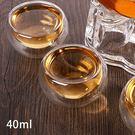 高硼矽雙層玻璃杯 保溫 耐熱 不燙手 40ml