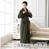 秋冬款珊瑚絨情侶睡袍男士法蘭絨浴袍睡衣加長款加絨加厚女士冬季 生活樂事館