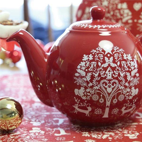 英國dexam 倫敦陶瓷4杯壺-冬季仙境