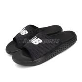 New Balance 拖鞋 Hupo NB 黑 白 男鞋 大Logo 涼拖鞋 【PUMP306】 SMFTEKK1D
