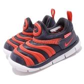 Nike 毛毛蟲鞋 Dynamo Free TD 藍 紅 慢跑鞋 嬰兒鞋 學步鞋 小童鞋【PUMP306】 343938-015