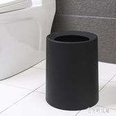 垃圾桶家用大號廚房衛生間北歐簡約雙層圓形廁所客廳臥室無蓋紙簍 zh1015【宅男時代城】