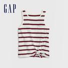 Gap 女童 清爽條紋圓領無袖上衣 577853-紅色條紋