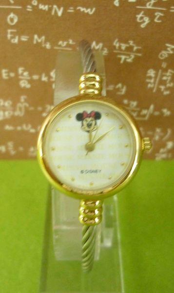 【震撼精品百貨】米奇/米妮_Micky Mouse~鋼線手錶-金米妮