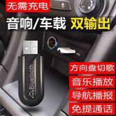 車載usb藍芽接收器 汽車MP3播放器 USB 連接 aux FM髮射 免提通話