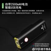洛克兄弟自行車燈德規手電筒強光山地車前燈夜騎防水USB充電配件 (橙子精品)