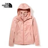 The North Face 女 三合一防水透氣保暖外套 粉 NF0A4N9WR13【GO WILD】