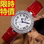鑽錶-經典甜美個性鑲鑽女手錶3色62g29【時尚巴黎】