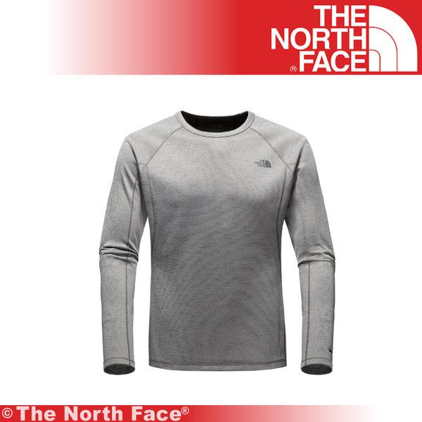 【The North Face 男 FlashDry 保暖圓領衫《墨灰》】CL72-044/吸濕排汗/運動/建身/戶外/上衣★滿額送