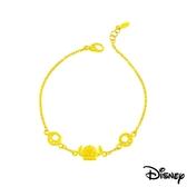 Disney迪士尼系列金飾 黃金手鍊-史迪奇足跡款