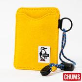 CHUMS 日本 Sweat 可扣式 雙層證件票卡夾/悠遊卡夾 鳳梨黃 CH600921Y011