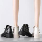 粗跟馬丁靴女2020年新款秋冬季加絨顯瘦英倫風短靴子女棉鞋ins潮