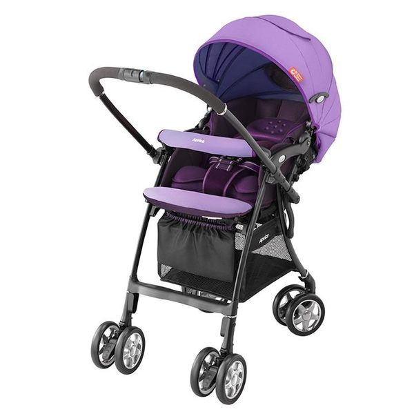 愛普力卡 Aprica LUXUNA CTS 前瞻系列輕量四輪定位嬰幼兒手推車-薰衣紫