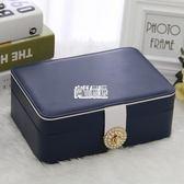 飾品收納盒雙層簡約首飾盒公主歐式正韓飾品盒耳環耳釘戒指收納盒 最後一天85折