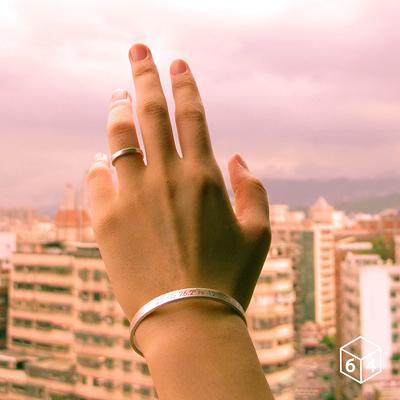 訂製刻字手環/手鐲  經緯度 手環(大) 英文 文字 999純銀C型手環-64DESIGN