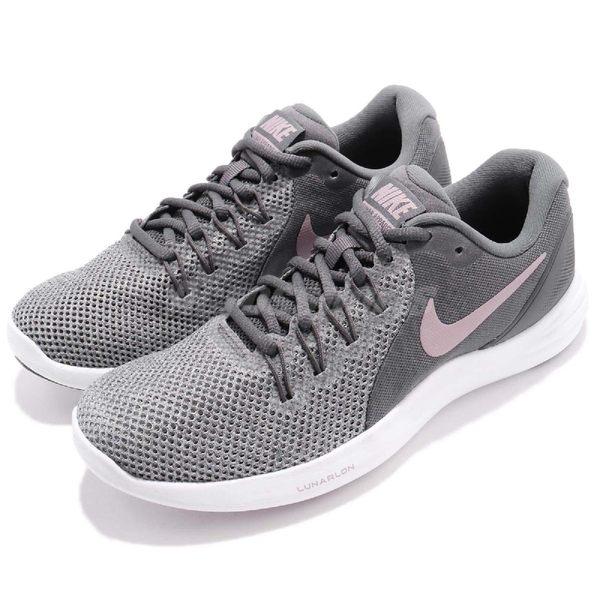 【六折特賣】Nike 慢跑鞋 Wmns Lunar Apparent 灰 粉紅 避震透氣 女鞋 運動鞋【PUMP306】 908998-005